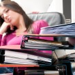 Girl are sleeping at work — Stock Photo #6030072