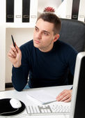 Young man thinking — Stock Photo