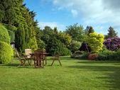 英语花园 — 图库照片
