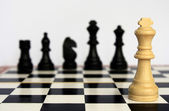 Chess - The sports game for the development of logic. — Stock Photo