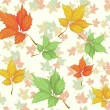 Seamless pattern with beautiful autumn leafs — Stock Vector