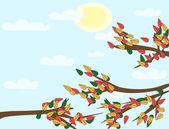 Autumn lanscape (background) — Stock Vector