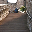 Stock Photo: Edimburgh Castle, flight of steps