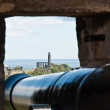 Stock Photo: Edimburgh Castle, view from gun's slit