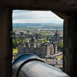Edimburgh Castle, view from a gun's slit — Stock Photo