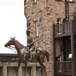 Stock Photo: Edimburgh Castle, equestristatue of National war museum