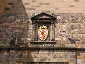 Edimburgh slott, kungliga vapnet — Stockfoto