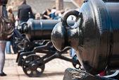 Edimburgh Castle, guns — Stock Photo
