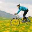Spring bike riding — Stock Photo
