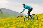 Spring bike riding — Stock Photo