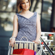 Royalty-Free Stock Photo: Beautifull woman with shopping cart