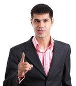 Indignant young businessman — Stockfoto