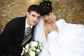 新郎和新娘 — 图库照片