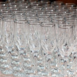 Empty wine glasses - Stock Photo
