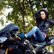 Biker girl — Stock Photo