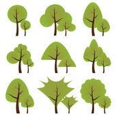 套的树木 — 图库矢量图片