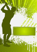 Modello di manifesto grunge golf — Vettoriale Stock
