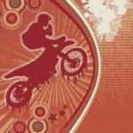 Biker Grunge Poster Vector 2 — Stock Vector
