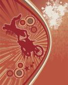 Biker Grunge Poster Vector 1 — Stock Vector