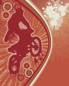 Rowerzysta plakat wektor 3 — Wektor stockowy