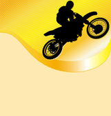 Motorcycle Racing Background — Stock Vector