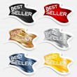 Best seller label sticker vector — Stock Vector