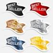 Best seller label sticker vector — Stock Vector #5777874