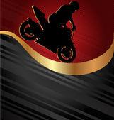 Motorcycle Racing Background — Stock Vector