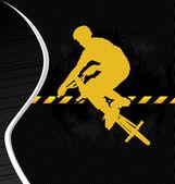 BMX cyclist template vector — Stock Vector