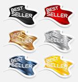 Best seller label sticker vector — Stock Vector