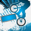 BMX cyclist poster template vector -  