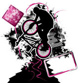 Bmx cyklist mall vektor — Stockvektor