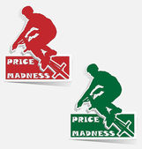 Price Madness BMX label sticker vector — Stock Vector