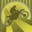 Vintage background design with motorcyclist silhouette. Vector i — Stock Vector