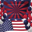 4th of July poster card. Vector Illustration — Imagen vectorial