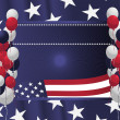 4th of July poster card. Vector Illustration — Stock Vector #5840454