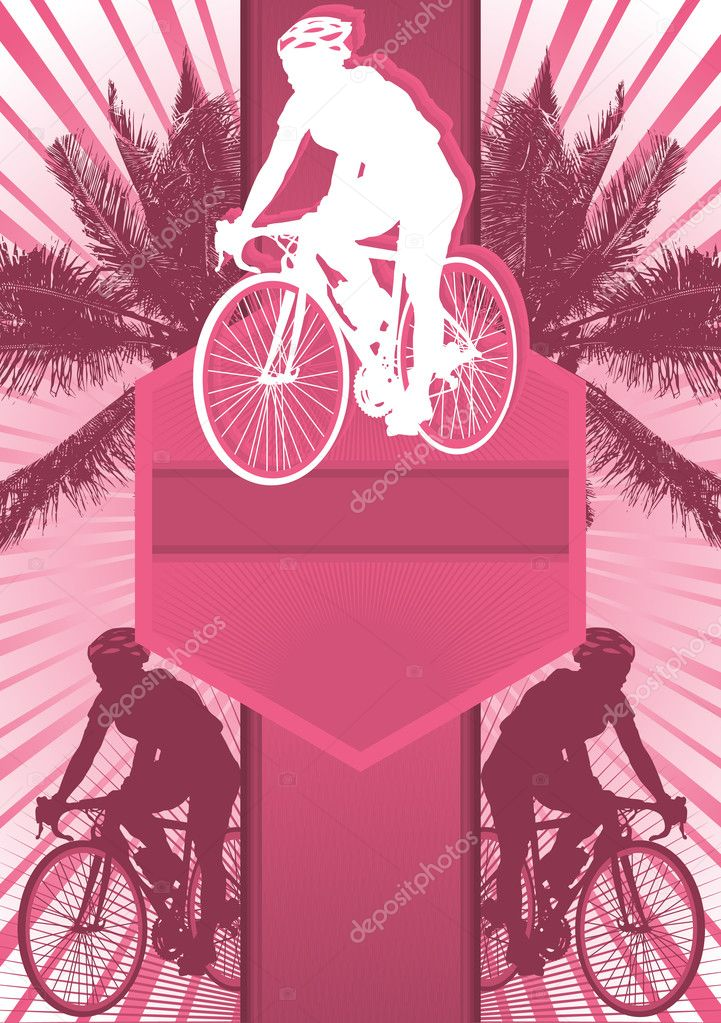Cycling Design Poster Template. Vector Illustration.  Stock Vector #5840139