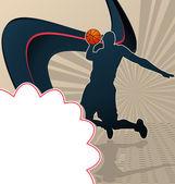 Sport Template Poster Basketball — Stock Vector