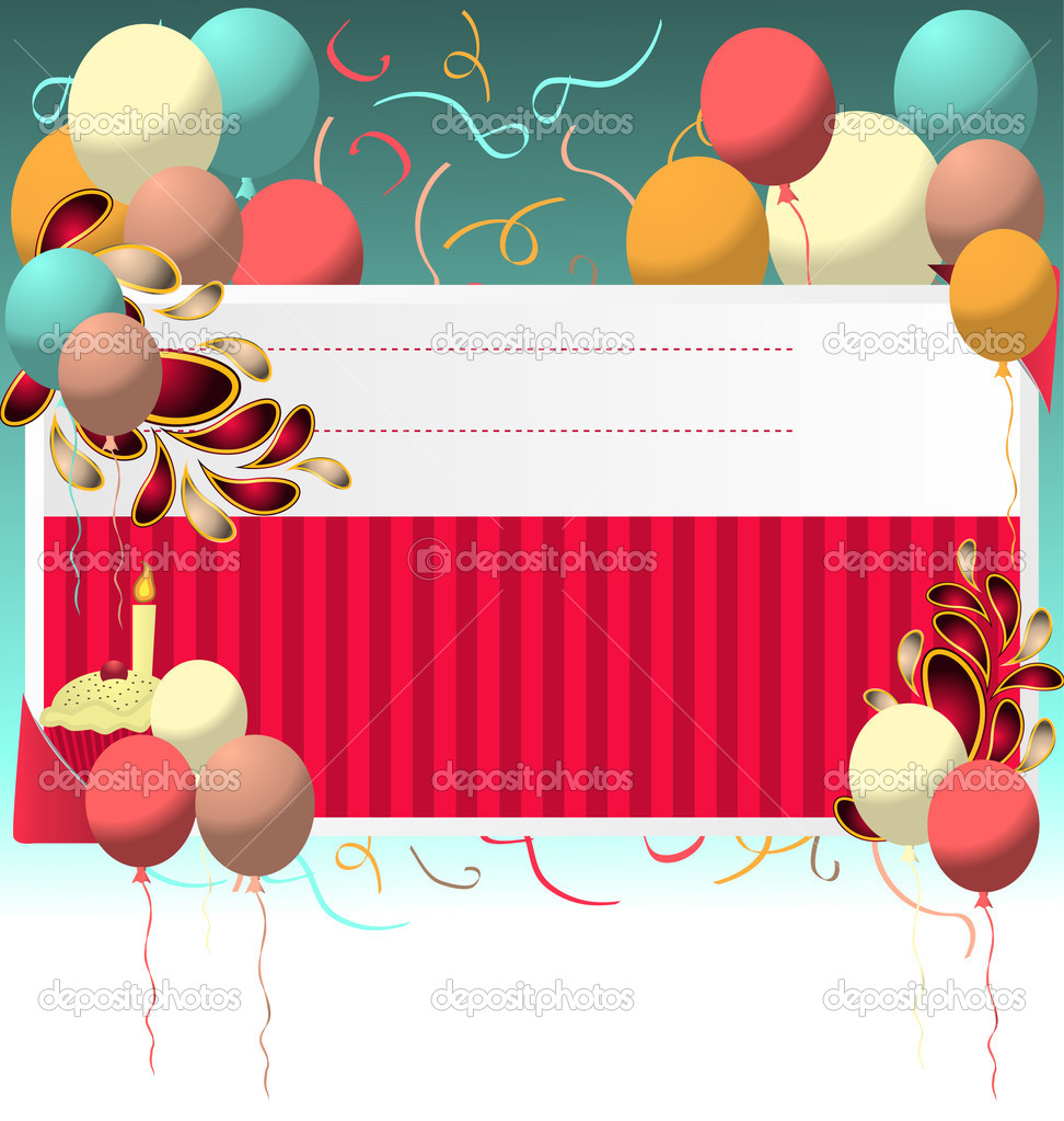 birthday card vector template stock vector © shockymocky 5944614 birthday card vector template stock illustration