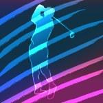 Sport Neon Series Golf — Stock Vector #5951880