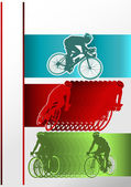 Sport Event Poster Cycling — Stock Vector