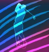 Sport Neon Series Golf — Stock Vector