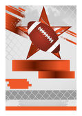 Sport Event Poster Football — Stock Vector