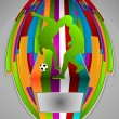 Summer Sport Design Series. Soccer Theme. — Imagen vectorial