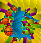 Abstrakt sport-design-series.basketball-player. — Stockvektor