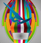 Summer Sport Design Series. Windsurfing Theme. — Stock Vector