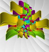 カラフルな抽象的な設計のベクトルの背景 — ストックベクタ
