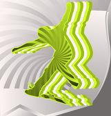 Modern abstrakt bunt. skateboarder — Stockvektor