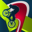 Modern dynamic designed sport vector background. BMX. - Stockvectorbeeld