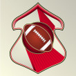 Modern dynamic designed vector sport emblem. Football. - Stockvektor
